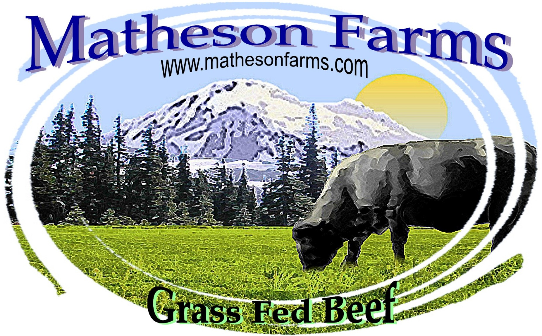 Buy organic beef - The Logo For Matheson Farms Grass Fed Beef