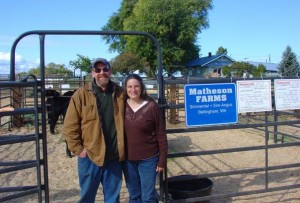 Sandra M. Matheson and John Mitchell at WSA Western Harvest Sale.